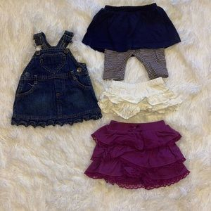 $8 Sale Girls Newborn Skirts and Denim Jumper